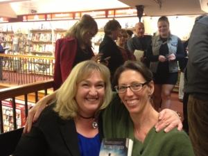 Wanda Wiltshire and Pamela Cook at the launch of Betrothed.
