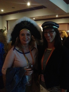 Monqique McDonell and myself at the Nautical or Nice Cocktail Party